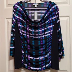 NWT blouse size 2x polyester and spandex